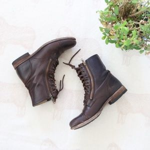Frye | Brown Leather Ankle Boots